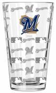 Milwaukee Brewers 16 oz. Sandblasted Pint Glass