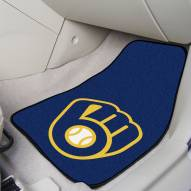 Milwaukee Brewers 2-Piece Carpet Car Mats