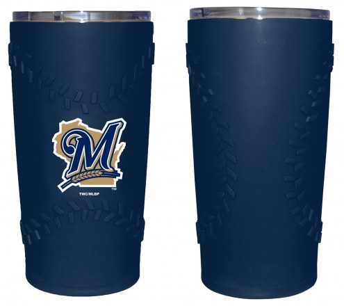 Milwaukee Brewers 20 oz. Stainless Steel Tumbler with Silicone Wrap