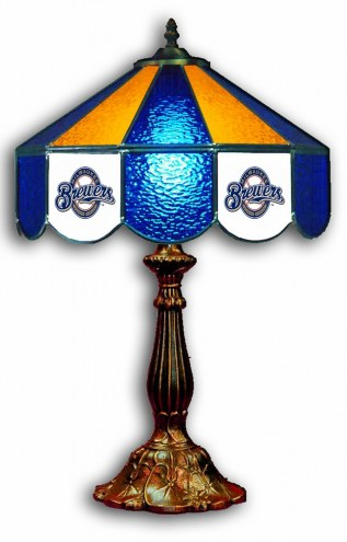 "Milwaukee Brewers 21"" Glass Table Lamp"