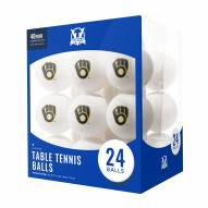 Milwaukee Brewers 24 Count Ping Pong Balls