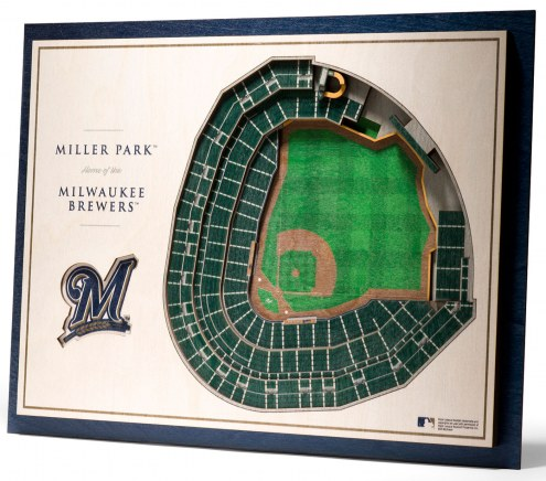 Milwaukee Brewers 5-Layer StadiumViews 3D Wall Art