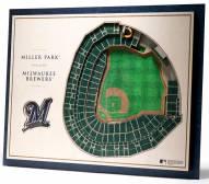 Milwaukee Brewers 5-Layer StadiumViews 3D Wall Art