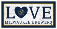 "Milwaukee Brewers 6"" x 12"" Love Sign"