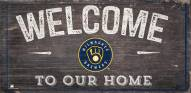 """Milwaukee Brewers 6"""" x 12"""" Welcome Sign"""