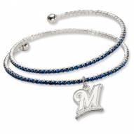 Milwaukee Brewers Amped Logo Crystal Bracelet
