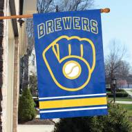 Milwaukee Brewers Applique 2-Sided Banner Flag