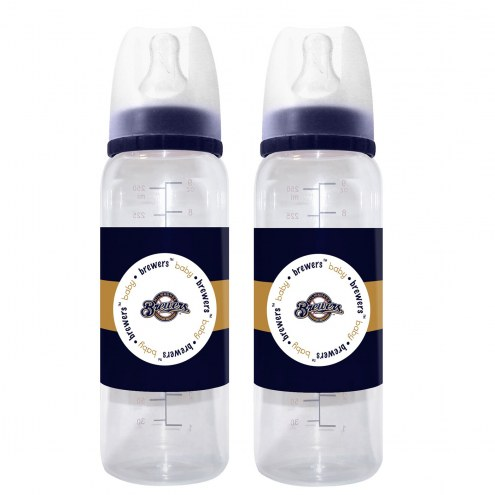 Milwaukee Brewers Baby Bottles - 2 Pack