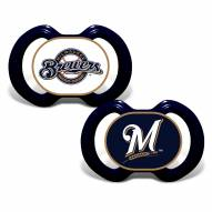 Milwaukee Brewers Baby Pacifier 2-Pack