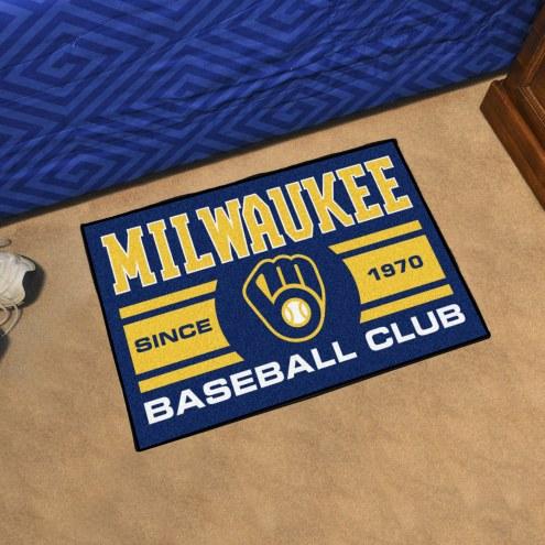 Milwaukee Brewers Baseball Club Starter Rug