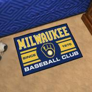 Milwaukee Brewers Baseball Club Starter Rug