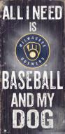 Milwaukee Brewers Baseball & My Dog Sign