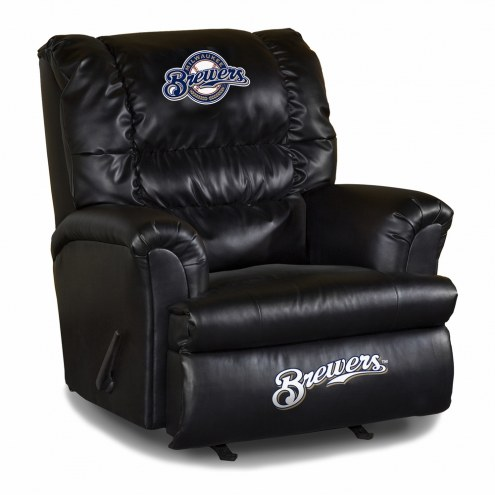 Milwaukee Brewers Big Daddy Leather Recliner