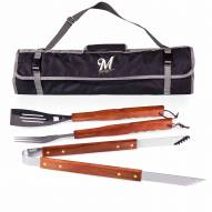 Milwaukee Brewers Black 3 Piece BBQ Set