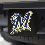 Milwaukee Brewers Black Color Hitch Cover
