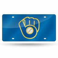 Milwaukee Brewers Blue Laser Cut License Plate