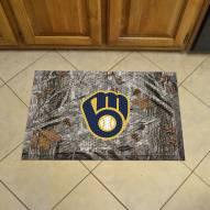 Milwaukee Brewers Camo Scraper Door Mat