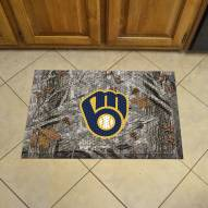 Milwaukee Brewers Camo Scraper Door Mat