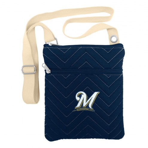 Milwaukee Brewers Chevron Stitch Crossbody Bag
