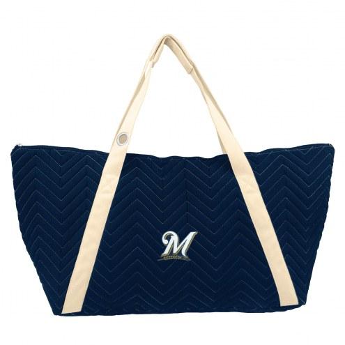 Milwaukee Brewers Chevron Stitch Weekender Bag