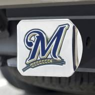 Milwaukee Brewers Chrome Color Hitch Cover