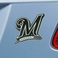 Milwaukee Brewers Chrome Metal Car Emblem