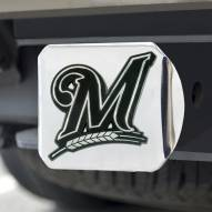 Milwaukee Brewers Chrome Metal Hitch Cover