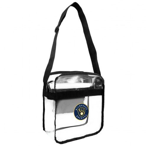 Milwaukee Brewers Clear Crossbody Carry-All Bag