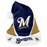 Milwaukee Brewers Colorblock Santa Hat