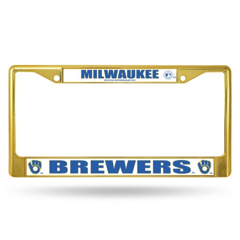 Milwaukee Brewers Colored Chrome License Plate Frame