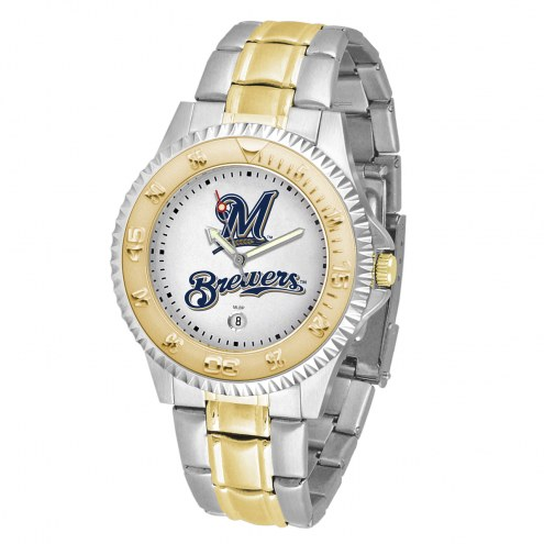 Milwaukee Brewers Competitor Two-Tone Men's Watch