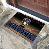 Milwaukee Brewers Crumb Rubber Door Mat