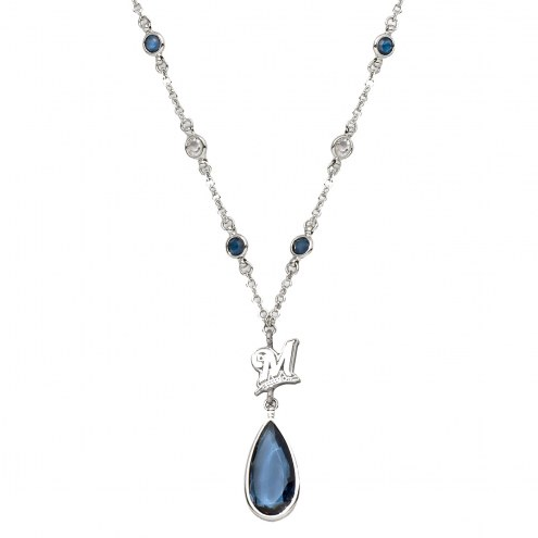 Milwaukee Brewers Crystal Logo Necklace