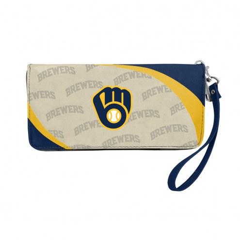 Milwaukee Brewers Curve Zip Organizer Wallet