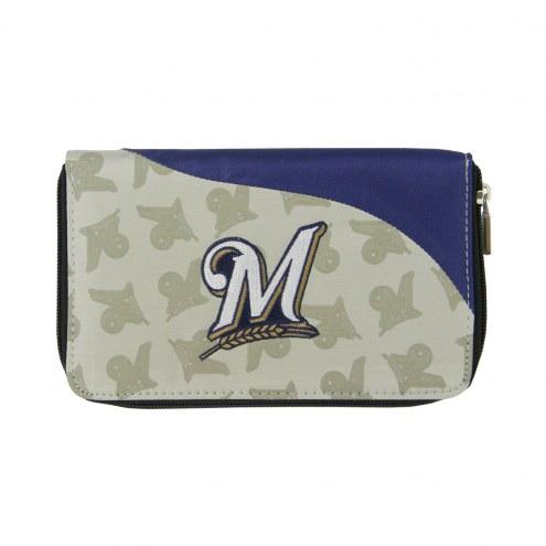 Milwaukee Brewers Curve Zip Wallet