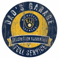 Milwaukee Brewers Dad's Garage Sign
