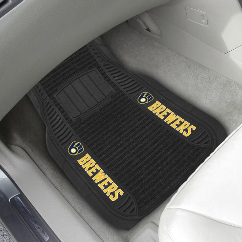 Milwaukee Brewers Deluxe Car Floor Mat Set