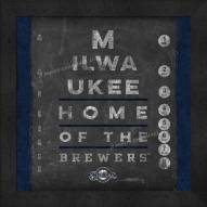 Milwaukee Brewers Eye Chart