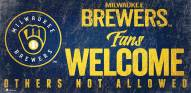 Milwaukee Brewers Fans Welcome Sign