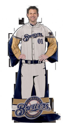 Milwaukee Brewers Full Body Comfy Throw Blanket