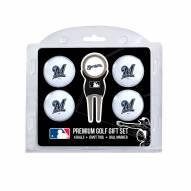 Milwaukee Brewers Golf Ball Gift Set