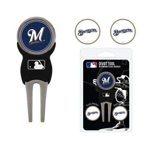 Milwaukee Brewers Golf Divot Tool Pack