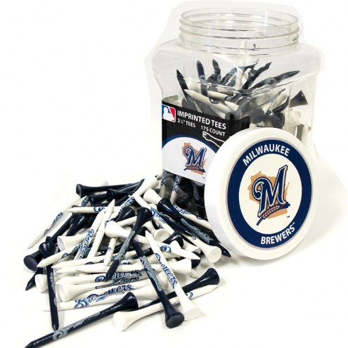 Milwaukee Brewers 175 Golf Tee Jar