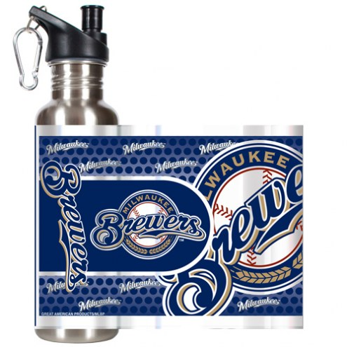 Milwaukee Brewers Hi-Def Stainless Steel Water Bottle