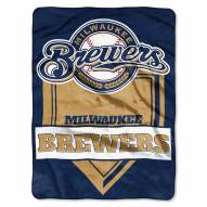 Milwaukee Brewers Home Plate Plush Raschel Blanket