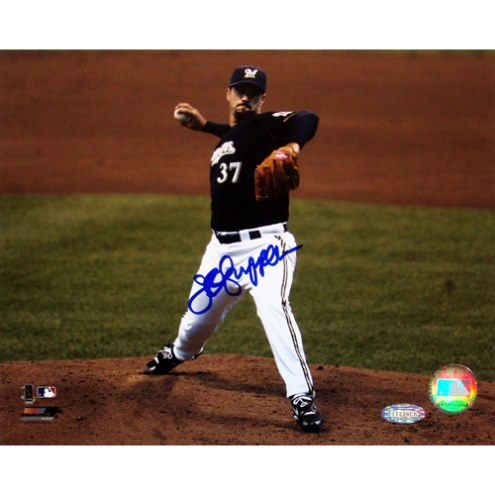 """Milwaukee Brewers Jeff Suppan Brewers Front View Pitching Signed 16"""" x 20"""" Photo"""