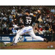 """Milwaukee Brewers Jeff Suppan Brewers Side View Pitching Signed 16"""" x 20"""" Photo"""