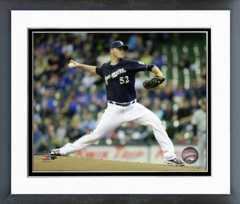 Milwaukee Brewers Jimmy Nelson 2015 Action Framed Photo