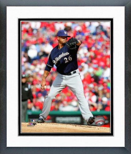 Milwaukee Brewers Kyle Lohse Action Framed Photo
