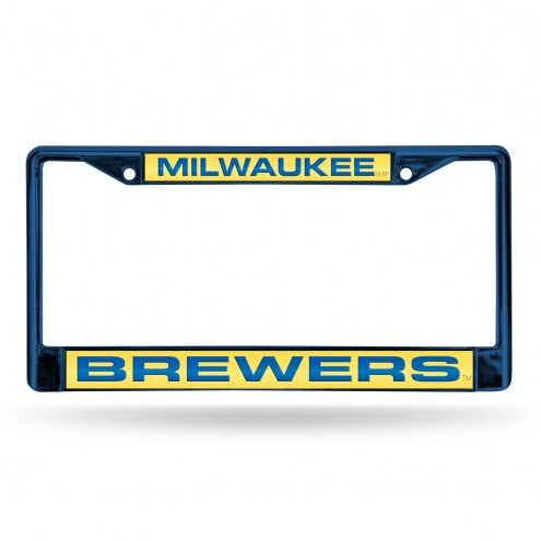 Milwaukee Brewers Laser Colored Chrome License Plate Frame
